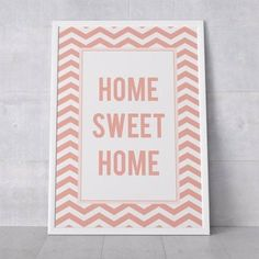 poster home sweet home coral