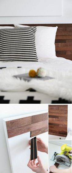 Check out the tutorial on how to make a #DIY #IKEA Stikwood headboard #wood #homedecor #rustic @istandarddesign