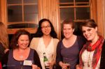 Judith Watts (with So-Shan Au), Anna Faherty and Maggie Eckel at BookMachine drinks