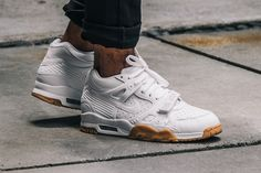 "Nike's Air Trainer 3 Look Cleans in ""White/Gum"""