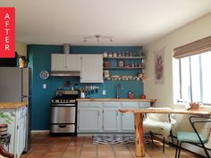 Before & After: Kitchen Goes From Grossness to Gorgeous for $2500 | Apartment Therapy