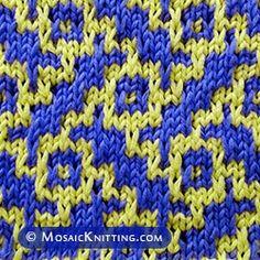 Basketweave mosaic knitting. An eye-catching stitch pattern!