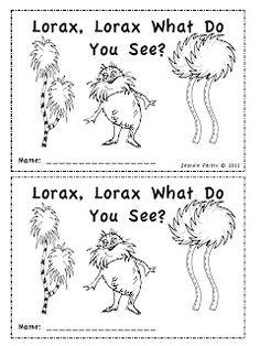 AWESOME Freebie ~ Lorax, Lorax What Do You See?
