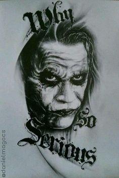 Joker Tatto, Tatuajes Tattoos, Leg Tattoos, Face Tattoos, Ship In Bottle Tattoo, Photoshop Tattoo, Ozzy Tattoo, Joker Drawings, Tatoo