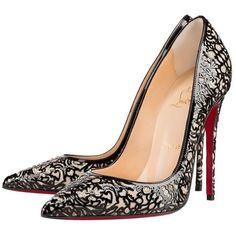 christian louboutin charlene mary jane red sole pump black