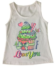 Fashion Girl Vest in Children Girl T-Shirt with Print Shoes (SV-019)