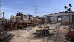 ArtStation - Train Yard Concept, MuYoung Kim