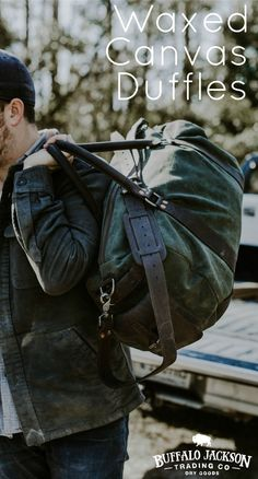 Crafted of waxed canvas and full grain leather with a distressed vintage finish, these duffle bags are constructed with the most durable of canvases, and highest grade leather. Plenty of room for all your work, sport, or travel products. duffle bag | duffel bag
