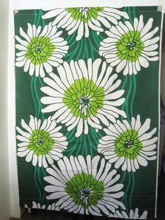"Finnish design fabric from Tampella, design ""Vesiheinä"""