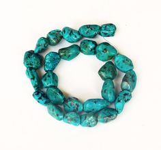 Old Stock Genuine Turquoise Nugget Beads - Full strand