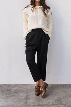 "You're already familiar with ""MORRIS"" trousers, it's an all time classic. But have you seen ""BLAIR"" sweater?  #karavan #karavanclothing #karavangirl"