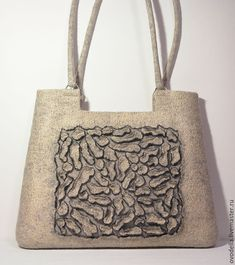 """Купить Валяная сумка """" Жемчуг"""" - серый, однотонный, жемчужный цвет, сумка ручной работы"""