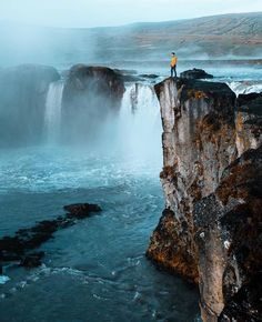 """""""Goðafoss is the name of this waterfall. It means """"waterfall of gods"""" """". Guide To Iceland, Tours In Iceland, Iceland Travel, Vacation Places, Culture Travel, Places Around The World, Holiday Travel, Travel Inspiration, Travel Destinations"""