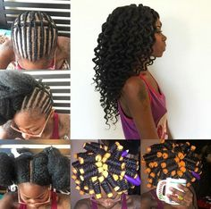 Crochet Braids Rod Set : rod set crochet braids more sets crochet crochet braids natural hair ...