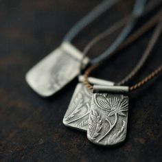 by minicyn - great technique, involving taking the imprint of old silverware into wax then casting it in silver.