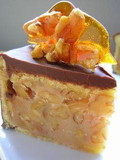 If You Have A Couple Hours To Kill….Chocolate Walnut Caramel Cake