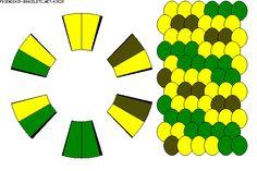 12 strand, 3 color kumihimo pattern