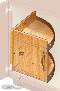 Bathroom Vanity Storage Upgrades - Step by Step: The Family Handyman Diy Storage, Storage Spaces, Cabinet Storage, Makeup Storage, Bathroom Vanity Storage, Bathroom Vanities, Do It Yourself Home, Diy Kitchen, Home Organization