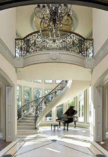 Luxury Stairs Gallery: Beautiful curved staircases in texas