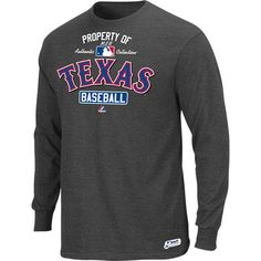 Texas Rangers Majestic Youth AC MLB Property Of Long Sleeve T-Shirt