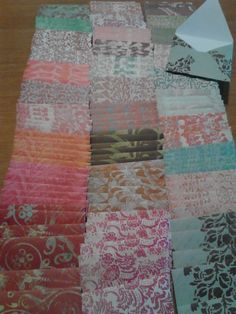 10 Handmade Mini Envelopes  Damask by KDugasCrafts on Etsy, $4.00