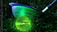 Glow in the Dark Golf Ball for Night Golf http://glowproducts.com/noveltyglowproducts/nightgolfball/