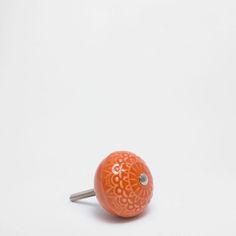 Σφαιρικό πορτοκαλί μεταλλικό πόμολο (σετ των 2)