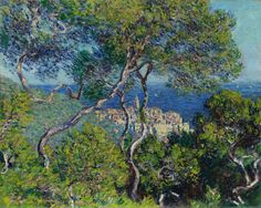 Claude Monet — Bordighera, [[MORE]]Painting: Oil on canvas, 65 x cm. Art Institute of Chicago. Early in Claude Monet traveled to Bordighera, a town on the Italian Riviera, close to. Monet Paintings, Impressionist Paintings, Landscape Paintings, Impressionism Art, Painting Prints, Wall Art Prints, Poster Prints, Poster Wall, Blue Painting