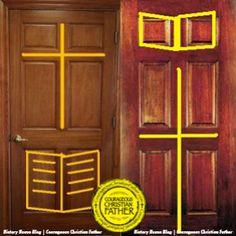 6 Panel Door   Cross U0026 Bible Door   Christian Door