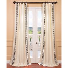 These Embroidered Faux Silk Curtains are defined by a unique sheen and fine weave, making them gorgeous and timeless. The taffeta drapes have a crisp smooth finish with contrasting embroidery. The Pol...