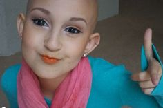 Talia Joy Castellano, who turns 13 on August 18, was first diagnosed with neuroblastoma, an aggressive form of cancer that forms in the nerve cells, in 2007. Numerous rounds of chemotherapy eventually left her bald. Repin it if you think she's beautiful! I really love her personally, and her youtube videos are hilarious. Search her up! taliajoy18 is her username. LIVE LONG TALIA!