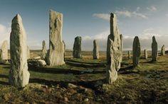 Menhires de Callanish, en las islas Hébridas, en Escocia