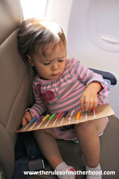 airplane activities for kids Toddler Play, Baby Play, Toddler Car Games, Toddler Stuff, Toddler Crafts, Kid Stuff, Infant Activities, Activities For Kids, Toddler Travel Activities