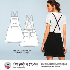 Skirt Patterns Sewing, Clothing Patterns, Paper Patterns, Pattern Sewing, Fabric Sewing, Pattern Drafting, Blouse Patterns, Overall Skirt, Wedding Dress Patterns