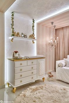 Fanciful touches like this ivy covered swing shelf makes this girl's bedroom a fairytale! Furniture, Room, Baby Room Decor, Home Bedroom, Home Decor, Girl Room, Room Decor, Baby Bedroom, Baby Girl Room