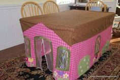 Tablecloth fort!