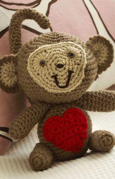 Love Monkey Free Amigurumi Pattern  http://www.simplicity.com/t-free-crochet-pattern-love-monkey.aspx