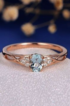 Aquamarine Engagement Rings For Romantic Girls aquamarine engagement rings rose gold oval cut twist More on the blog: