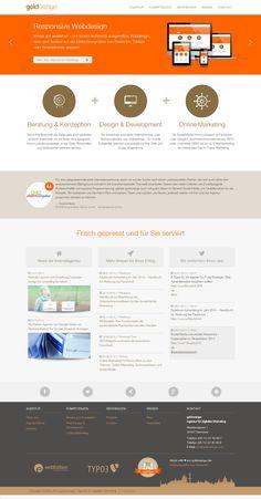 Website von goldorange - Agentur für digitales Marketing aus Hannover Website Relaunch: Responsives Webdesign, Bootstrap, HTML5, CSS3, CMS webEdition, Twitter API, RSS-Reader,...
