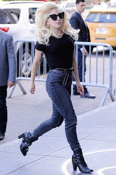 "sadmegucashow: ""gagasgallery: "" ""Gaga arrives back at her apartment in New York…"