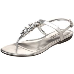 Silver flat sandal...I bet these would look better one