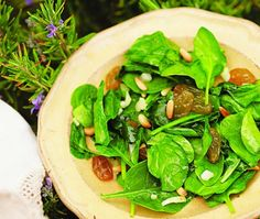 Catalan Spinach Salad Recipe   from Seasonal Spanish Food cookbook   House & Home