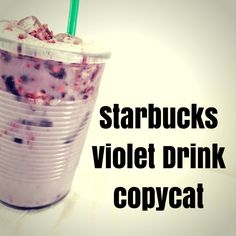 The Starbucks Violet Drink copycat recipe is here. It's berries, hibiscus and coconut milk, shaken not stirred. From Beauty and the Beets Starbucks Pink Drink Recipe, Pink Drink Recipes, Pink Starbucks, Starbucks Recipes, Starbucks Drinks, Starbucks Hacks, Tea Recipes, Acai Refresher Recipe, Very Berry Hibiscus Refresher
