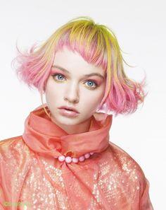 Color Ideas for Short Hair 2013 – yellow hair Yellow Hair, Pink Hair, Pink Yellow, Navy Blue, Creative Hairstyles, Cool Hairstyles, Hair And Makeup Artist, Hair Makeup, Hair Art