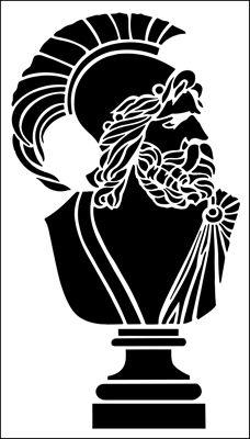 Hector stencil from The Stencil Library ARCHITECTURE range. Buy stencils online. Stencil code AR75.