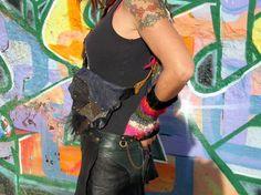 Leather Hip Belt Bag Shoulder Bag Sporran by Suckahtash on Etsy, $85.00