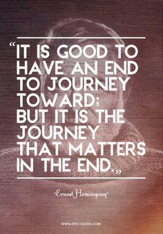 Travel Quote // Ernest Hemingway - via epic-guide.com