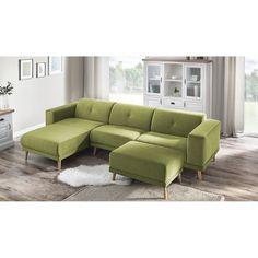 Canapea cu șezlong pe partea stângă Bobochic Elen, verde deschis Angles, Sofas, Furniture, Home Decor, Products, Green, Contemporary Design, Home Decoration, Living Room