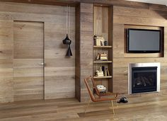 Wood furniture and wooden wall panelling are modern interior design trends that create eco friendly room decor and impressive wall design. Natural wood is a unique versatile natural material, which ad