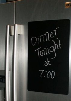 Peel and stick chalkboard decal